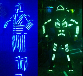 Old vs New LED suit