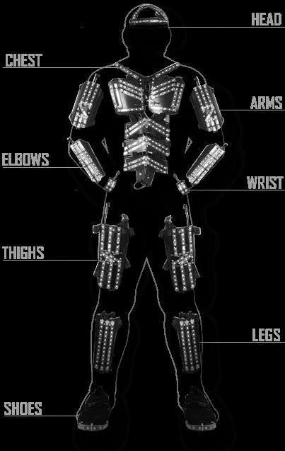 led Tron Dance suit