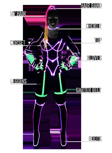 Tron Girls Suit